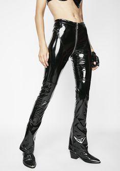 Matte Dark Siren PVC Pants | Dolls Kill