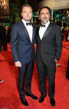 Leonardo and movie director Alejandro Gonzalez Inarritu attend the EE British Academy Film...