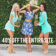 """40% off the ENTIRE SITE! Use code """"summersale"""" at checkout!! Www.mkt.com/whiskeydarling"""