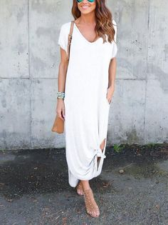 ba6ee2f70058 Casual Knotted Maxi Dress   Casual+Chic Spring & Summer   Summer ...