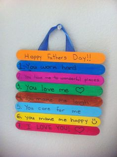 paddle pop stick craft father's day - Google Search