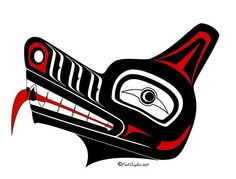 Yet another Haida wolf head.