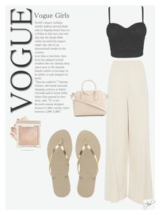 """""""Vogue girl"""" by itsainara on Polyvore featuring moda, Havaianas, Topshop y Givenchy"""