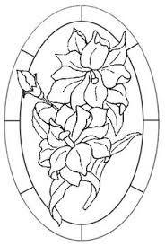 Resultado de imagen para diseño vitral dibujo flores