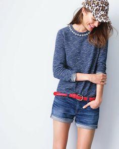 Marled Jeweled Sweatshirt 2-2014
