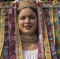 All these pictures are depicting the costume of Velky Lom, Slovakia. Who could actually come up with a wear like this? Seriously, it's amazing!