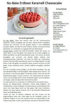 Erdbeer No Bake Karamell-Cheesecake | Das Knusperstübchen