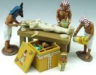 Ancient Egypt AE007 Wrapping the Mummy - Made by King and Country Military Miniatures and Models. Factory made, hand assembled, painted and boxed in a padded decorative box. Excellent gift for the enthusiast.