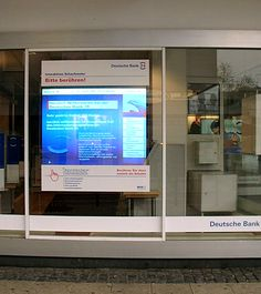 Interactive Bank Window #fintech
