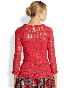 CROCHET FASHION TRENDS exclusive crochet blouse by LecrochetArt