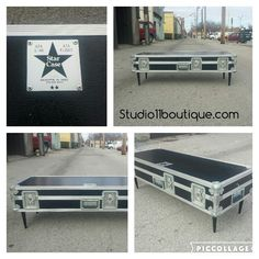 Upcycled Instrument case!  Storage with style is one of our favorite things!  Studio 11 Boutique #upcycled #danishmodern #music #rockstar #furniture