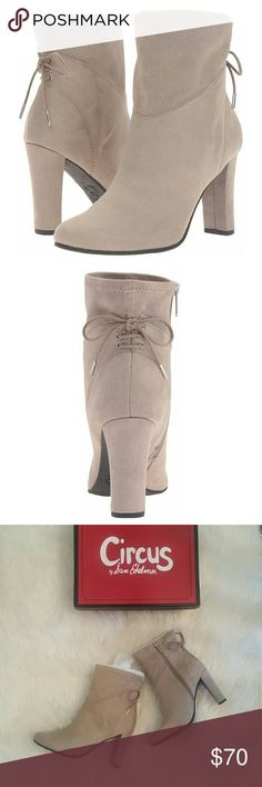 """Sam Edelman Janet Ankle Bootie Brand new in box! Size 7.5 High heel ankle bootie with back lace up detail. Stretch microsuede. Synthetic sole. Side zip allows for easy entry. 4"""" heel.  Offers welcome! Circus by Sam Edelman Shoes Ankle Boots & Booties"""
