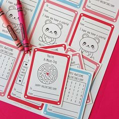 These free printable Valentine cards for kids double as activities too!
