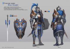 Blue knight, Tae Kwon Kim (A-rang) on ArtStation at https://www.artstation.com/artwork/blue-knight-ccc9932b-b9f9-43b1-908e-e1658ab1c982