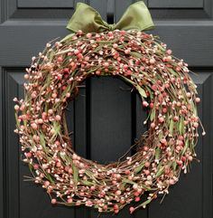 Berry Wreath  Pink Wreath  Door Wreath by EverBloomingOriginal, $59.00