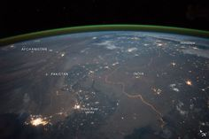 The border as seen from space.