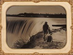 Henry Hollister: Canadian, Niagra Falls, 1860's, ambrotype