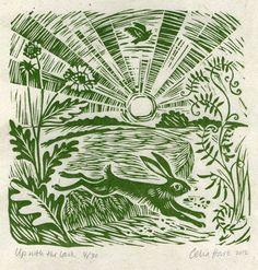 'Up with the lark' 15 x 16 cm Celia Hart