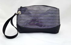 Purple Recycled Sailcloth Wristlet Carbon Fiber Sailcloth