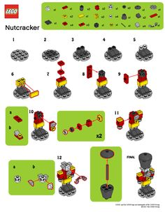 LegoMyMamma: LEGO Nutcracker building instructions - New Ideas Lego Christmas Ornaments, Lego Christmas Village, Lego Winter Village, 3d Christmas, Lego Disney, Lego Advent Calendar, Lego Design, Lego Minecraft, Lego Lego