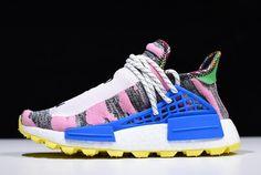 "8f99e96438a81 Pharrell x adidas NMD Hu MOTH3R ""Solar Pack"" Hi-Res Red Bright Blue"