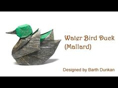 Origami Water Bird Duck - Mallard Tutorial (Barth Dunkan) 折り紙 アヒル Can. Origami Duck, Origami Mouse, Origami Ball, Origami Dragon, 3d Origami, Origami Stars, Origami Flowers, Origami Birds, Origami Instructions