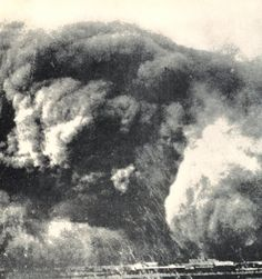 """""""Dust Over Texas."""" Huge boiling masses of dust that blocked out the sun were common sights in Texas during the Dust Bowl years. In: """"To Hold This Soil"""", Russell Lord, 1938. Miscellaneous Publication No. 321, U.S. Department of Agriculture. Circa 1935"""