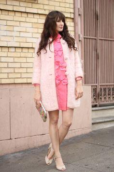 perfect pink vintage look. via Fancy Fine.