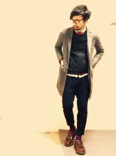 チェスターコート 着こなし メンズ【2015最新】   男前研究所                                                                                                                                                                                 もっと見る