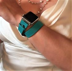 This leather strap for the Apple Watch will add that glam factor to your outfit by introducing rich vibrant texture. Customize it to match your Apple Watch case by choosing silver, gold, rose gold, space gray or space black hardware.  It makes a great gift for yourself or for that special someone. #applewatchband #applewatchbands #applewatchbandleather #applewatchstrap  ##applewatchlooks #applewatchfashion  #applewatch #applewatchseries4 #applewatchseries3 #applewatchstraps #smartwatchbands