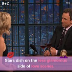 Movie stars dish on the less glamorous side of love scenes.