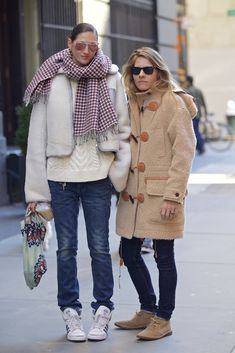 Style crush: Jenna Lyons and girlfriend Courtney Crangi.