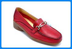 PITILLOS , Damen Mokassins beige rot, beige - rot - Größe: EU 36 - Slipper und mokassins für frauen (*Partner-Link)