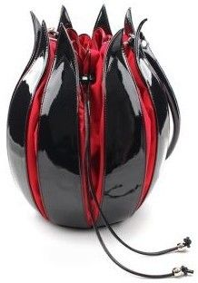 NN 'Enamel Tulip' Black & Red #Handbag by by-Lin Handmade Handbags & Accessories - amzn.to/2ij5DXx Clothing, Shoes & Jewelry - Women - handmade handbags & accessories - http://amzn.to/2kdX3h7