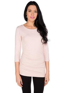 Essential Ruched Scoopneck Top Canadian Clothing, Scoop Neck, V Neck, Tees, Blouse, Long Sleeve, Sleeves, Clothes, Women