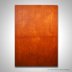 orange modern abstract painting