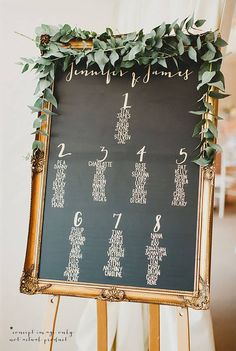 Wedding Seating Chart | Table Plan | Chalkboard Look | Digital | Printable | C