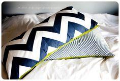 How to make your own chevron stripes.
