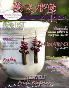 September 2013 Bead Chat Magazine  - Pinned from @Glossi, a free digital magazine creation platform