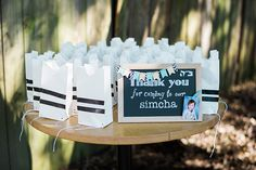 """B""""H A couple of months ago I had the pleasure of working on styling the Upshernish of my dear friends' son's third birthday – Nachshon! Isn't he adorable! Baby First Birthday, 3rd Birthday Parties, Birthday Celebration, Wedding Favor Bags, Dinosaur Party, Party Bags, Bar Mitzvah, First Birthdays, Couple"""