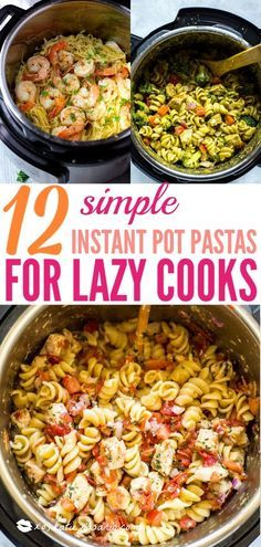 12 Simple Instant Pot Pasta Recipes For The Lazy Cook | Learn how to make easy pasta recipes you know and love in a one-pot wonder machine like the instant pot. These instant pot pasta recipes may seem too good to be true. With a little cleanup, you can have delicious soul-satisfying instant pot comfort food meals you can't wait to make. #xokatierosario #instantpotrecipes #instantpotpastarecipes #quickpastarecipes