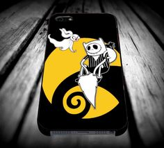 adventure time with jack skellington for iPhone 4/4s/5/5s/5c/6/6 Plus Case, Samsung Galaxy S3/S4/S5/Note 3/4 Case, iPod 4/5 Case, HtC One M7 M8 and Nexus Case ***