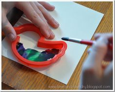 Watercolor cards using cookie cutters or stencils