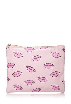 Kisses Print Makeup Clutch | FOREVER21 - 1049257708
