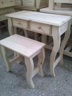mesa de arrime recibidor madera pino