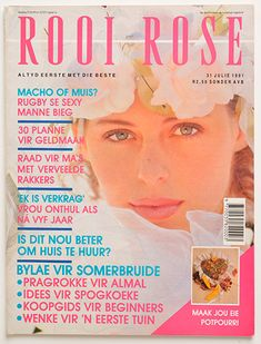 rooi rose 31 Julie 1991 African Beauty, Rose, Sexy, Vintage, Roses, Vintage Comics