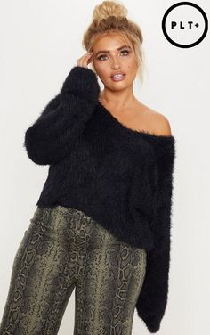 11ad7919d16fd PrettyLittleThing Eyelash Knitted Sweater