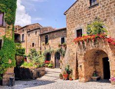 Casas tipicas dos vilarejos da Toscana