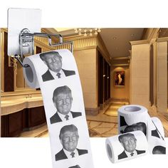 Whether you support Donald Trump or not, there's no denying the hilarity of his unique facial expressions. This novelty toilet paper features one of Trump's most iconic expressions, in all its glory, on every single sheet. So, for the 2016 presidential election, why don't you grab a roll and show Trump your support; or you can show him how you really feel.
