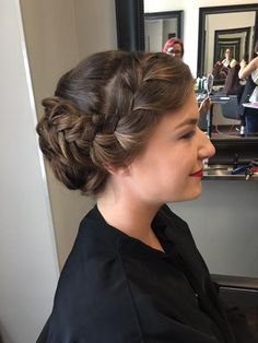 Loose braid prom updo!